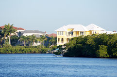 Florida homes on canal Royalty Free Stock Photography