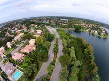 Florida homes seen from above Stock Photo