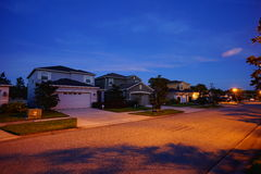 Florida house and night. House and night in Florida, taken in Tampa Stock Photography