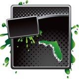 Florida icon on black halftone advertisement Royalty Free Stock Photo