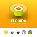 Florida icon in different style Royalty Free Stock Photography