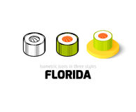 Florida icon in different style Stock Photography