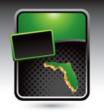 Florida icon on green stylized advertisement Stock Images