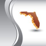Florida icon vertical silver wave. Background Royalty Free Stock Photography