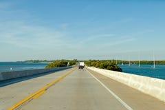 Florida imposta la strada principale litoranea Fotografie Stock