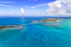 Florida imposta la vista aerea con il ponte Immagini Stock