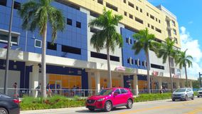 Florida International University college campus. Motion footage of FIU Miami 4k stock footage