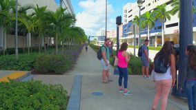 Florida International University college campus. Motion video of FIU Miami main campus 4k stock video
