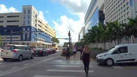 Florida International University college campus. Motion video of FIU Miami main campus 4k stock video footage