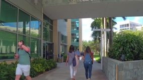 Florida International University college campus. Motion video of FIU Miami main campus 4k stock footage