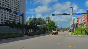 Florida International University college campus. Touring FIU in Miami FL, USA stock video footage