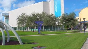 Florida International University Miami. Motion footage of Florida International University students in motion stock video footage