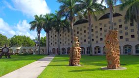 Florida International University Miami stock footage
