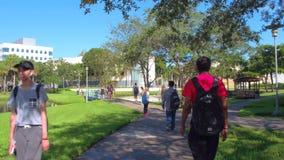 Florida International University Miami stock video