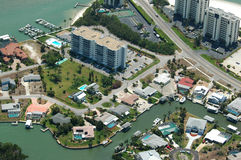 Florida-Küstenluftbild Stockfotos