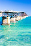 Florida Keys. Old road bridge connecting Florida Keys, Florida, USA royalty free stock photo