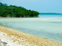 Florida Keys. Photo of one of the Florida Key's beaches on a semi-cloudy day during my vacation royalty free stock photo