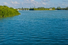 Florida Keys. Water creates copy space in the Florida Keys royalty free stock photography
