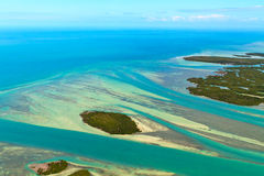 Florida Keys. Aerial View (shot from airplane royalty free stock photography