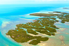 Florida Keys. Aerial View (shot from airplane stock photo