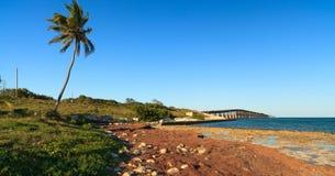 Florida Keys. Landscape along the Bahia Honda bridge royalty free stock images