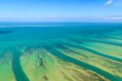 Florida Keys Aerial View royalty free stock photography