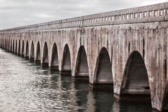 Florida Keys East Coast Railway. Arches of Old East Coast Railway stone bridge connecting Florida Keys, United States stock photography