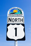 Florida Keys, Florida, USA. The road number 1, Florida Keys, Florida, USA stock photos