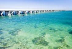 Florida Keys, Florida, USA. Road bridge connecting Florida Keys, Florida, USA stock photography