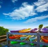 Florida Keys kayaks Bahia Honda Park US Royalty Free Stock Images