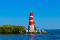 Florida Keys lighthouse. Colorful seascapes in the Florida Keys stock image