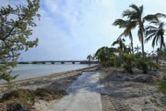 Florida Keys Overseas Heritage Trail after Hurricane Irma Stock Images