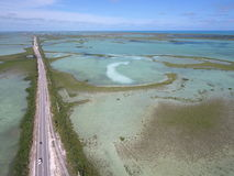 Florida Keys overseas highway and reef water Royalty Free Stock Photo