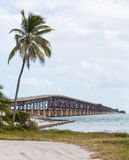 Florida Keys rail bridge and heritage trail Royalty Free Stock Images