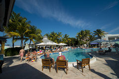 Florida Keys resort swimming pool Royalty Free Stock Photography