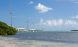 Florida Keys seven mile bridge Stock Image