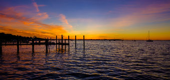 Florida Keys Sunset. The beautiful Florida Keys at sunset stock photography