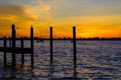 Florida Keys Sunset. The beautiful Florida Keys at sunset stock images