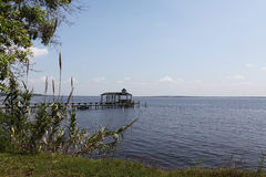 Florida landscape. Beautiful view of the exotic Florida nature St. Johns river Stock Photo