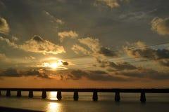 7 Mile Bridge Sunset Royalty Free Stock Photos