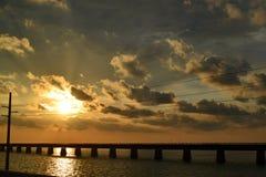 7 Mile Bridge Sunset Royalty Free Stock Photo