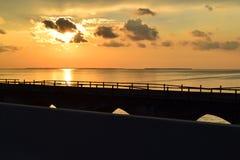 7 Mile Bridge Sunset Royalty Free Stock Images