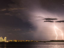 The Florida Lightning Storm Royalty Free Stock Photos