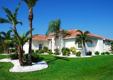 Florida Living. Southwest Florida Home is Typical Style and Design for the Area Stock Photo