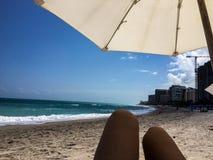 Florida-Mädchen auf Strand Stockfoto