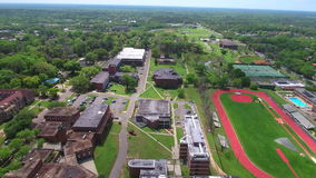 Florida A&M University aerial video stock footage