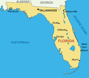 Florida - map of a state - vector Stock Photography