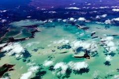 Florida Miami aerial view panorama landscape Stock Image
