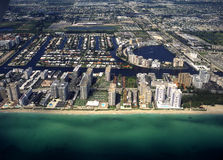 Florida Miami form the air  Royalty Free Stock Images