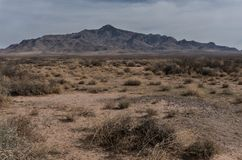 Florida Mountains horizontal landscape in New Mexico. royalty free stock photography